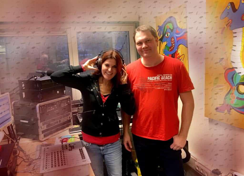 Claudia Robbins in de studio