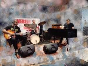 Kirk Fletcher band in de studio van Wereldstad